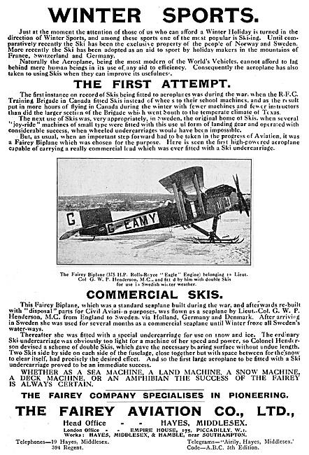 Fairey Skiplane G-EAMY