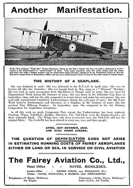 Fairey N10 - Type III