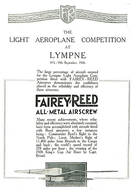 Fairey Reed Airscrews At Lympne