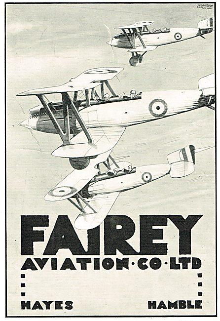 Fairey Aviation Ltd Hayes & Hamble - Biplanes In Flight