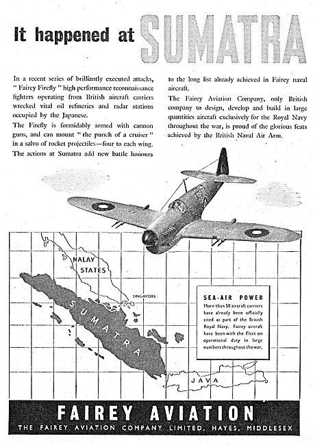 Fairey Aircraft - Sumatra