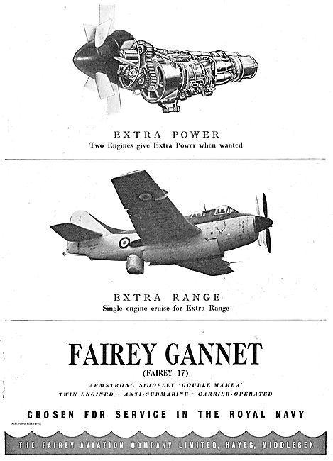 The Fairey Gannet (Fairey 17) Anti-Submarine Aircraft