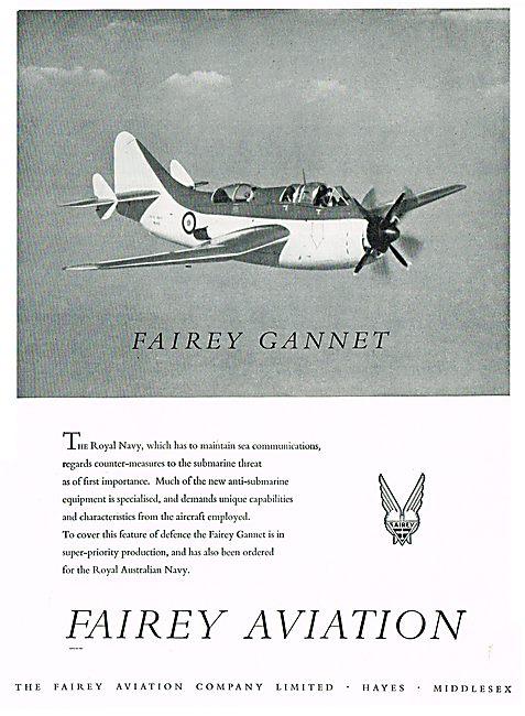 Fairey Gannet Anti-Submarine Aircraft