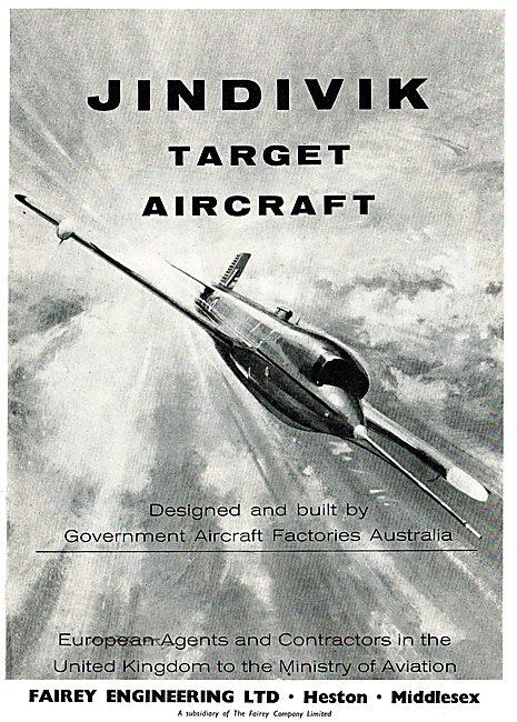 GAF Jindivik Target Aircraft: Fairey Engineering UK Agents