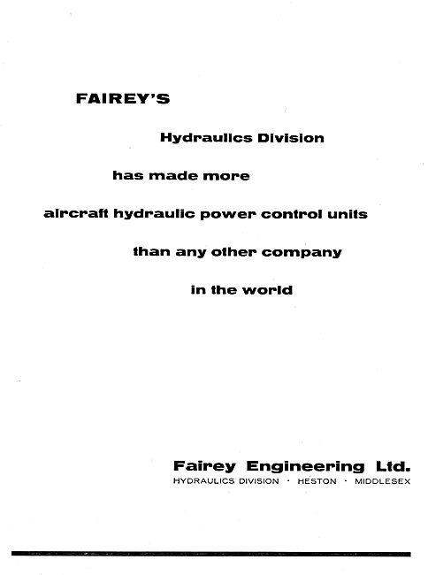 Fairey Hydraulic Power Controls