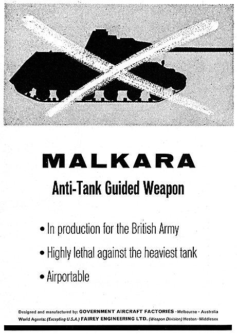 GAF Malkara Anti-Tank Weapon: World Agents Fairey Engineering