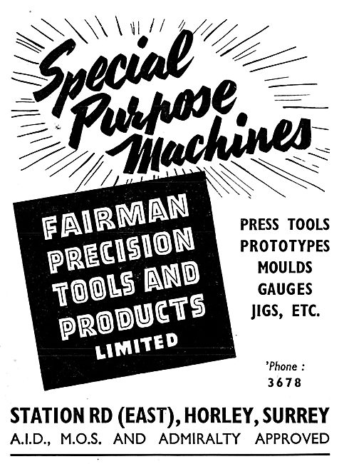 Fairman Precision Tools & Products - Press Tools, Jigs Moulds Etc