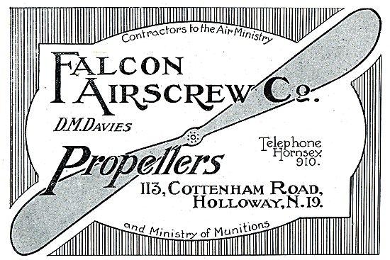 The Falcon Airscrew Co. Propeller Manufacturers. Falcon Propeller