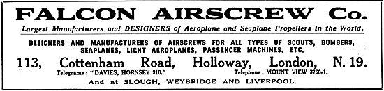 Falcon Airscrews 1925