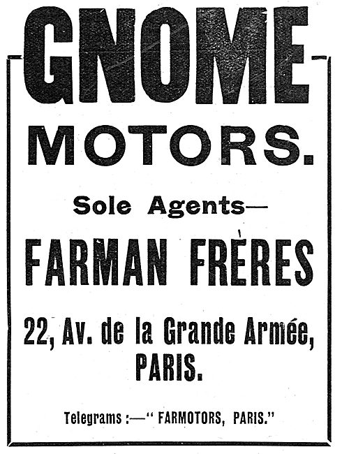 Farman Freres - Gnome Aero Motors