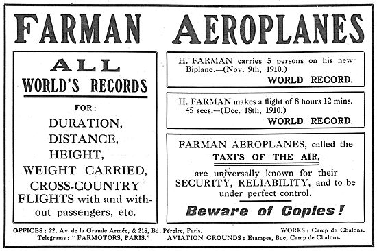 Farman Aeroplanes