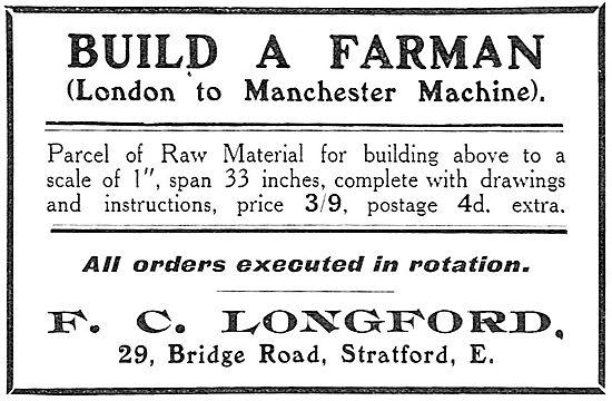 Build A Model Farman Aeroplane - .F.C.Longford