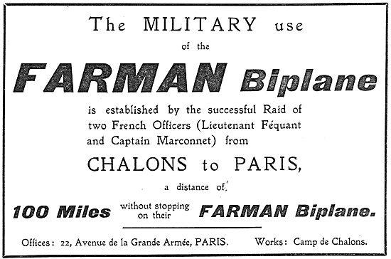 Farman Military Biplane - Lieut Feqaunt. Capt Marconet