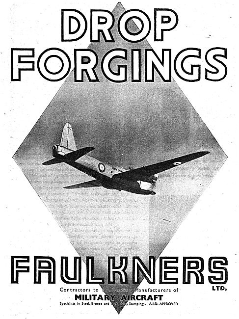 Faulkners Ltd. Drop Forging For The Aircraft Industry