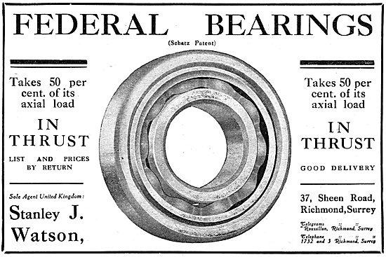 Federal Bearings (Schatz Patent) - Stanley J.Watson (Agent)