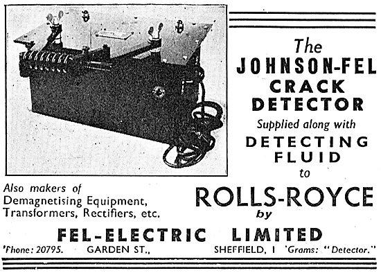 Fel-Electric Johnson-Fel Crack Detector NDT, Test Equipment 1939