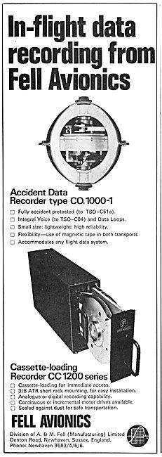 Fell Avionics Cassette Loading Accident Data Recorder CC1200