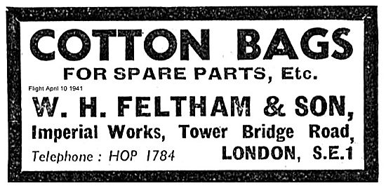 Feltham Cotton Bags For Aircraft Spare Parts Storage