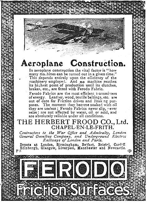 Ferodo Friction Surfaces & Fabrics For Aircraft