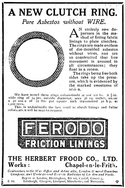 Ferodo Friction Surfaces For Aircraft - Clutch Rings
