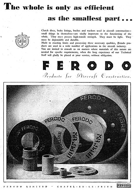 Ferodo Brake Linings & Friction Surfaces For Aircraft