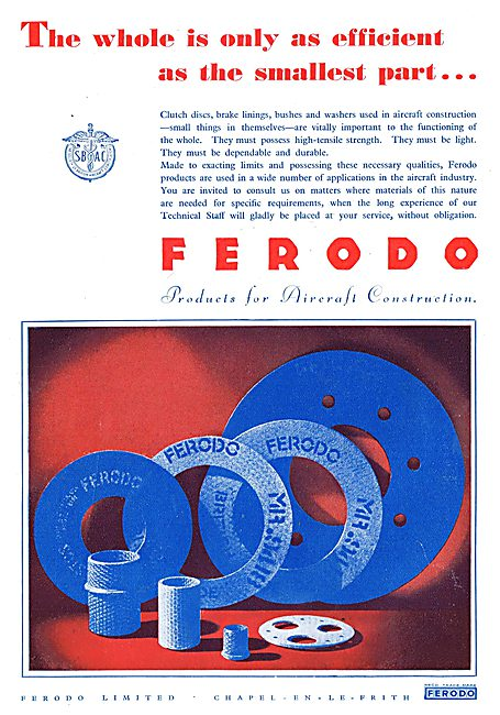 Ferodo Products For Aircraft Construction