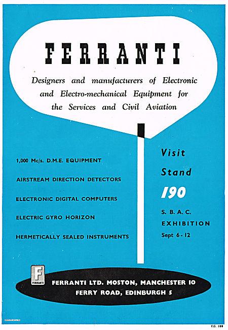 Ferranti 1000 Mc/s DME Equipment & Electric Gyro Horizons