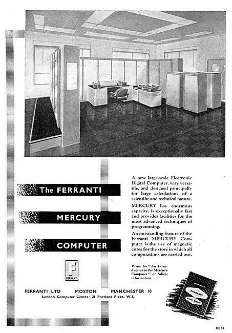 Ferranti Mercury Digital Computers 1956