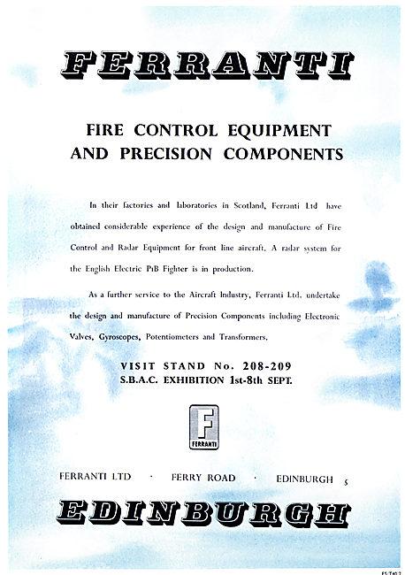 Ferranti Fire Control Equipment 1957