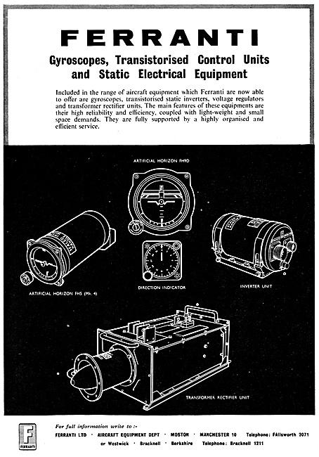 Ferranti Gyroscopes & Transistorised Control UNits