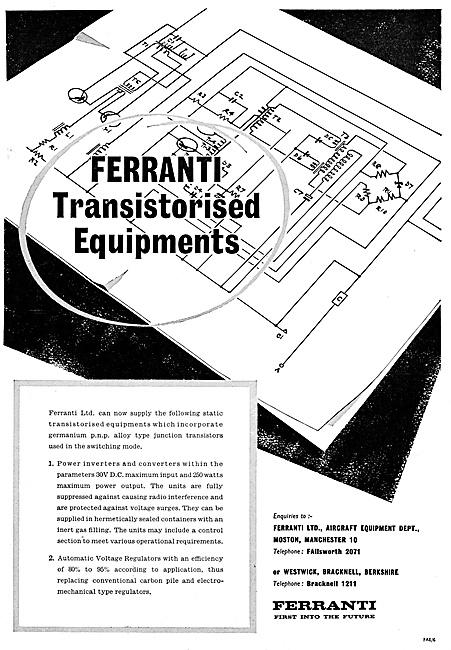 Ferranti Flight Control Systems & Transistorised Equipment