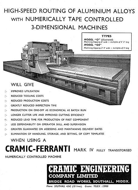 Cramic-Ferranti Mark IV Tape Controlled Metal Cutting Machines