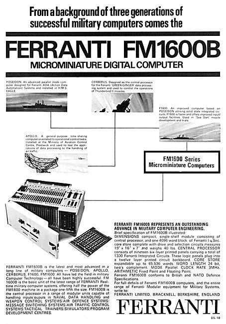 Ferranti FM1600 Digital Computer