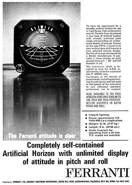 Ferranti Standby Artificial Horizon