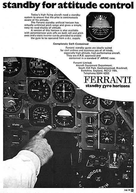 Ferranti Standby Artificial Horizon 1970