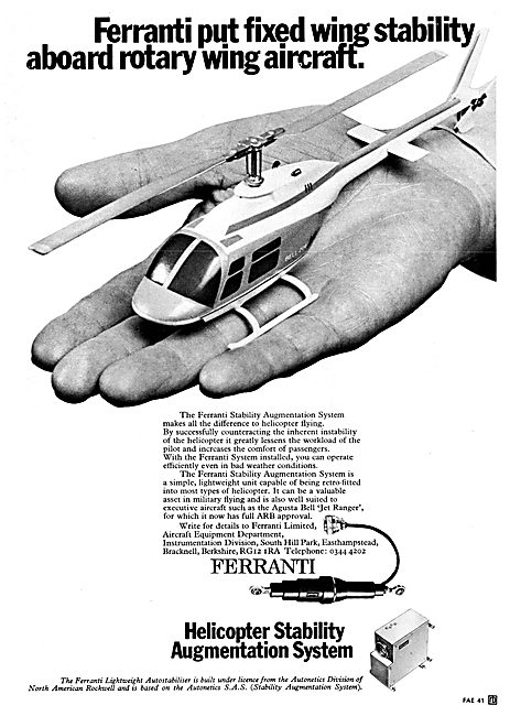 Ferranti Helicopter Stability Augmentation System