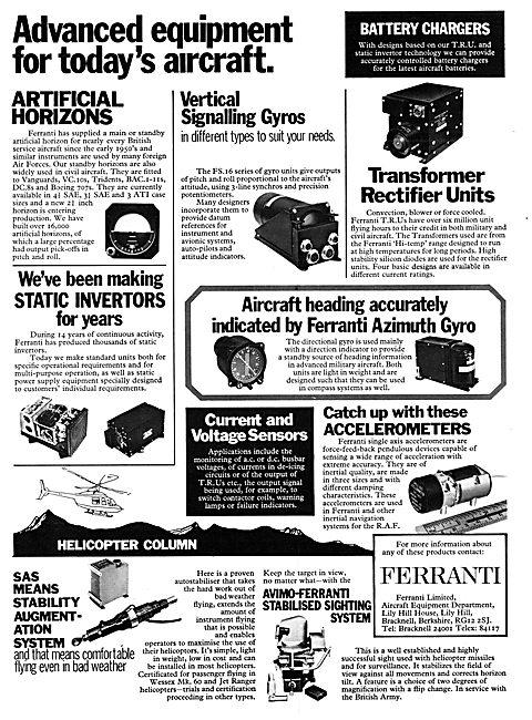 Ferranti Adavanced Avionics & Instruments 1972