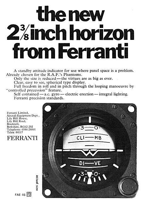 Ferranti Standby Attitude Indicator