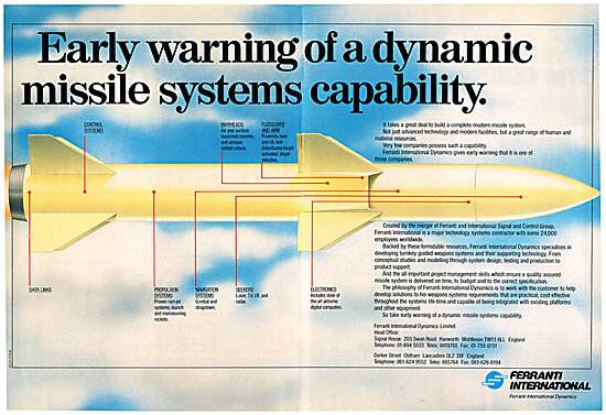 Ferranti Missile Early Warning Systems