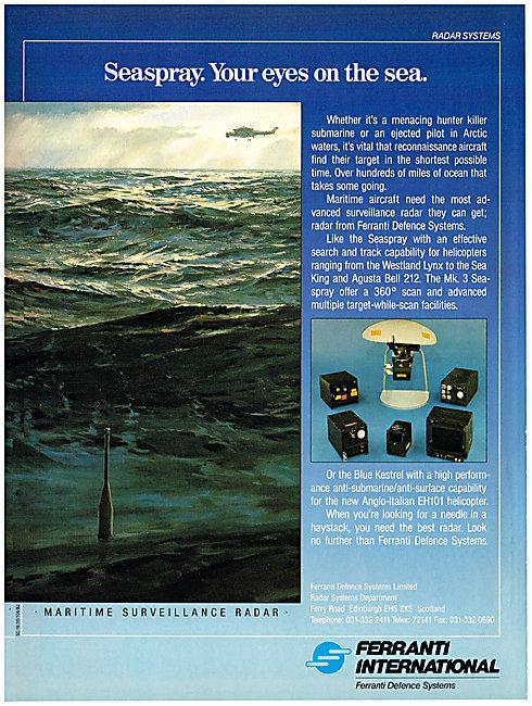 Ferranti Seaspray Radar - Ferranti Blue Kestrel