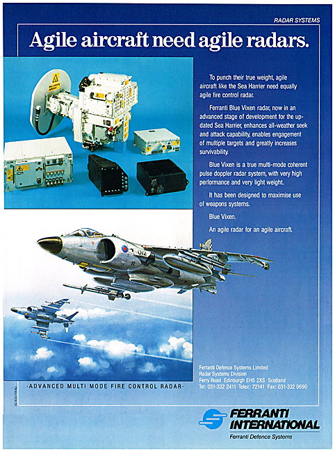 Ferranti Multi Mode Fire Control Radar