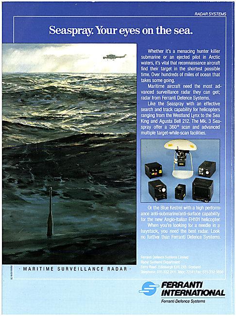 Ferranti Defence Systems Blue Kestrel Radar System