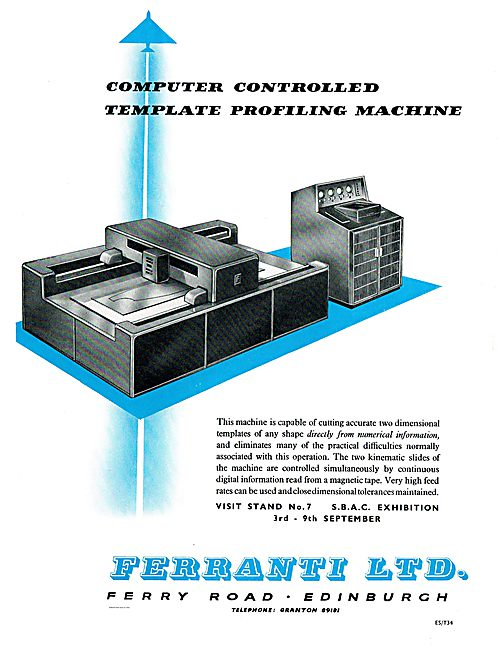Ferranti Computer Controlled Template Profiling Machines