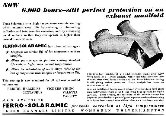 Ferro Enamels. AID Prroved Ferro-Solarmic Prevents Corrosion