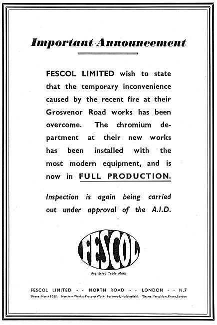 Fescol. Chromium Treatment