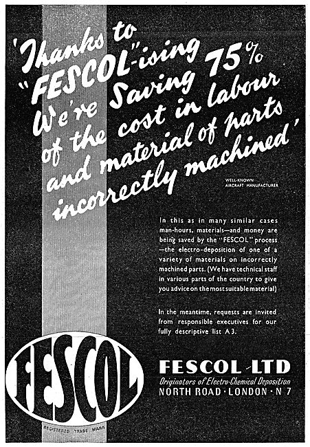 Fescol Electro Chemical Deposition Process. Fescolised