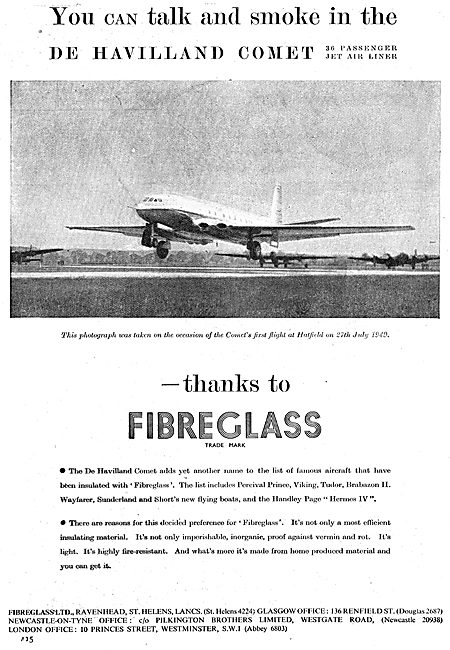Fibreglass Aviation Components 1949