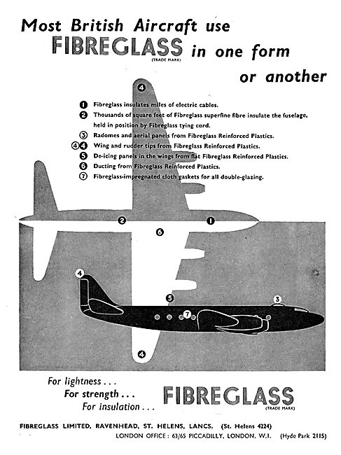 Fibreglass Ltd In Aircraft Construction