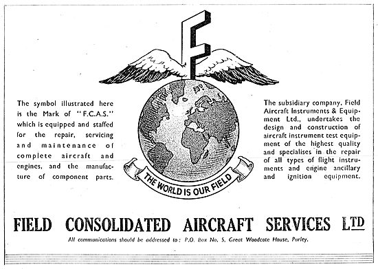 Field Aircraft Services. Aircraft Engineering & Maintenance