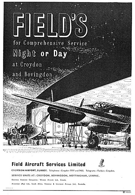 Field's For Aircraft Servicing - Night Or Day.